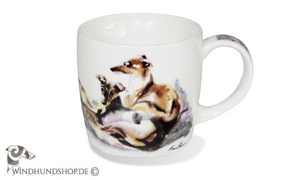 Whippet Keramik Becher DE